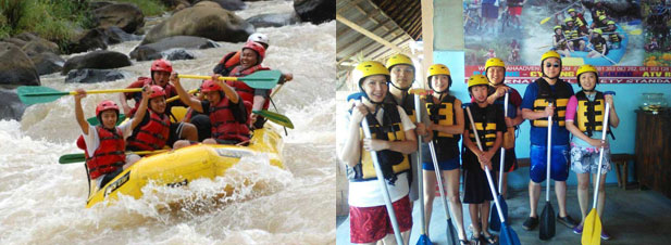 Bali Tour Adventure, Bali Rafting Along with Ayung River Adventure